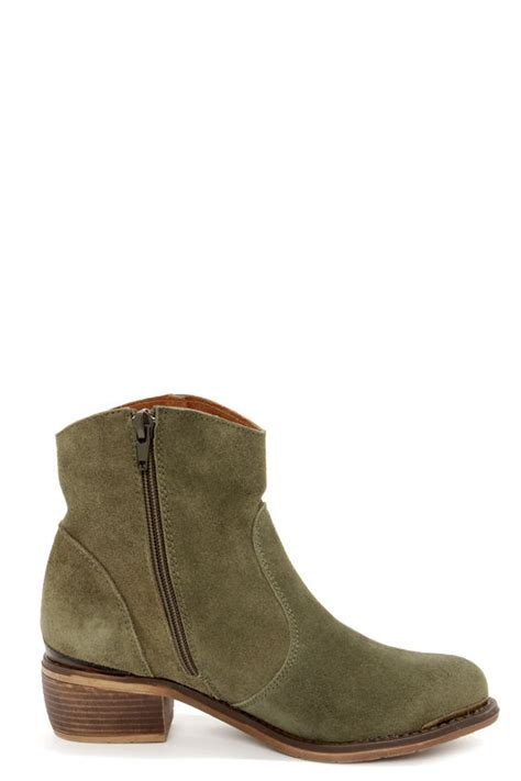 olive green boots booties ankle boots 77 00