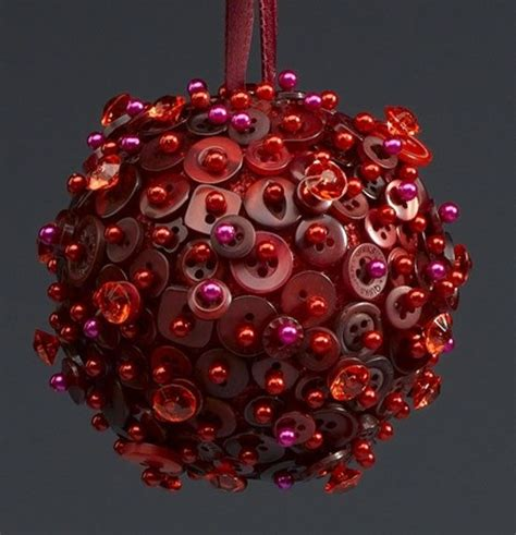 christmas button ornament my love of the colour red
