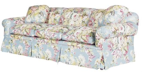 Chintz Sofa by A Three Seat Floral Chintz Upholstered Sofa Modern