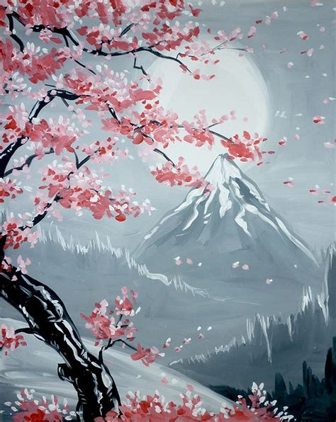 paint nite island january paint nite simi cherry blossoms