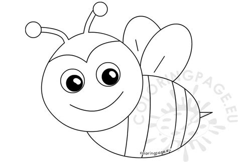 spring coloring pages happy bee coloring page