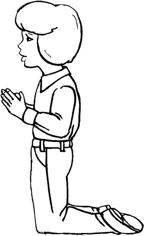 imagenes de ninos rezando para colorear colorea tus dibujos ni 241 o rezando para colorear