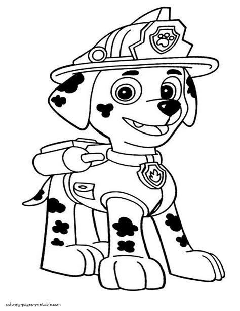 free coloring pages of paw patrol marshall paw patrol coloring pages for kids puppy marshall