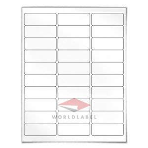 Address Labels 2 625 X 1 Quot 10000 Blank Label Sheets Uses 5160 8160 Template Ebay 1 X 1 Label Template