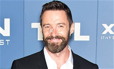 celebrity skin hello hugh jackman steps out following the removal of his second
