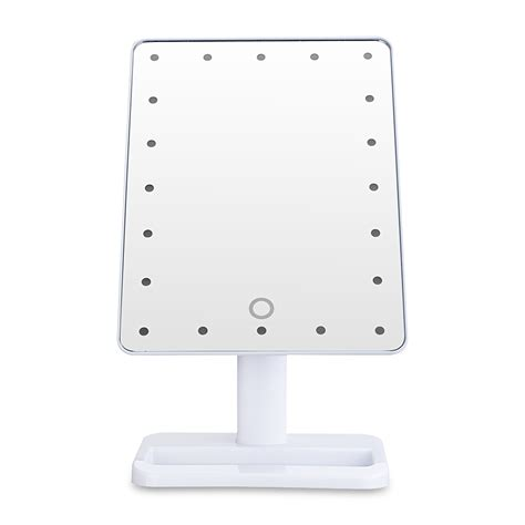 portable mirror with lights portable 20 led light touch screen beauty stand makeup