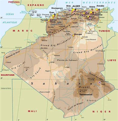 algeria map with cities algeria map algeria mappery