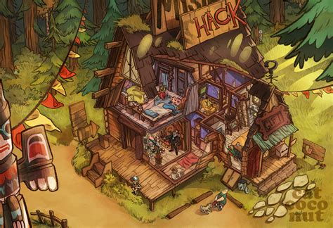 Create Office Floor Plan awesome concept art illustration of the mystery shack with