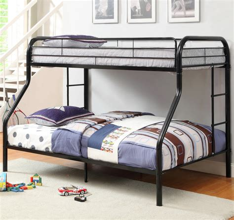 twin over full metal bunk bed furniture of america linden twin over full metal bunk bed