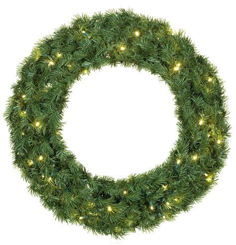 artificial christmas wreaths balsam fir prelit led