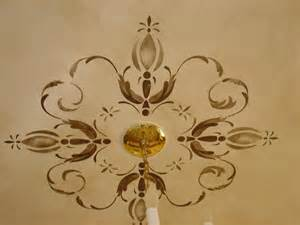 ceiling medallion stencils surfaces with paint painted ceiling medallions
