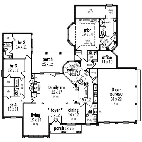 house plans and more sunbelt home plan first floor 020d 0328 house plans and