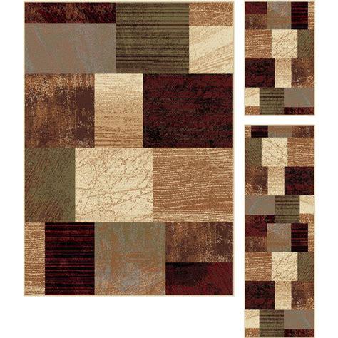 three rug set tayse rugs elegance multi 5 ft x 7 ft 3 rug set 5210 multi 3 pc set the home depot