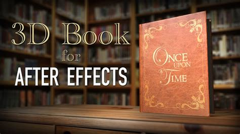 3d Book Storybook Intro After Effects Youtube After Effect Opening Template