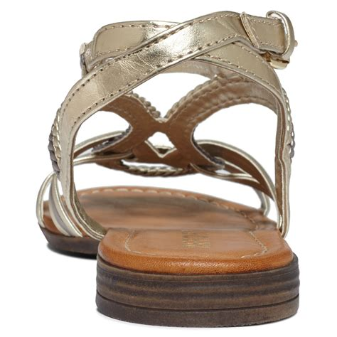 report gold sandals report gilly flat sandals in brown lyst