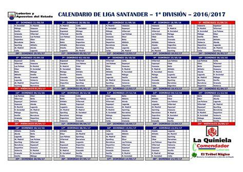Calendario De Liga 1 Division Calendario El Club De La Quiniela 1x2