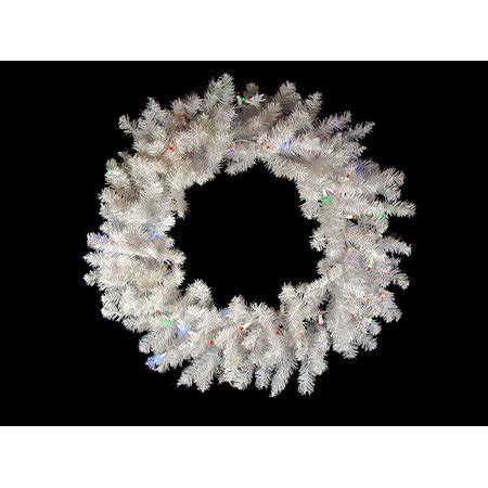 wal mart battery operated wreaths with timer 36 quot battery operated pre lit led snow white wreath multi lights walmart