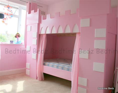 princess bunk beds princess castle theme bunk or cabin bed bedtime bedz
