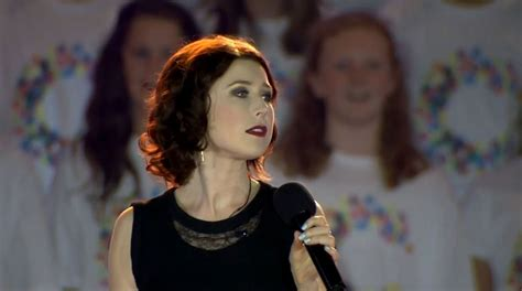 Hayley Westenra And by Hayley Westenra At 2015 Cricket World Cup Opening In