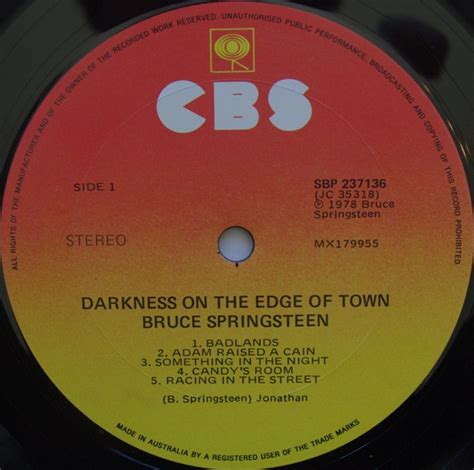 town at the edge of darkness the excoms volume 2 books darkness on the edge of town bruce springsteen le