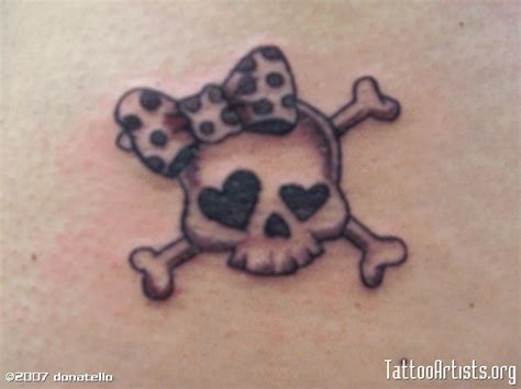 skull and crossbones tattoo designs girly skull artists org