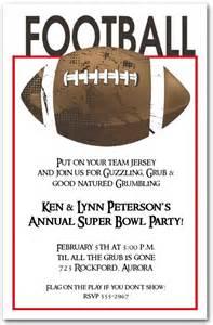 football grunge bowl invitations