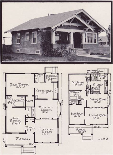 craftsman cottage floor plans 1920s craftsman bungalow house plans 1920 original