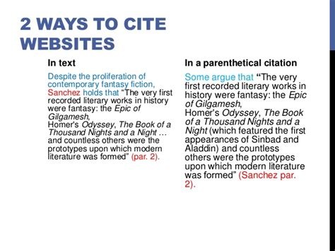 how to cite a website in a research paper how to cite scientific papers mla