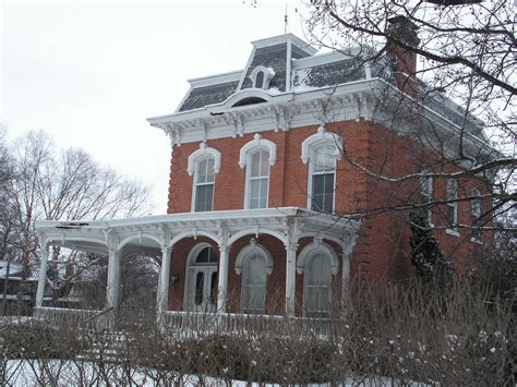 empire house 1900 victorian home restoration 1876 second empire brick