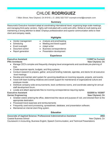 6 administrative assistant resume templates free sample