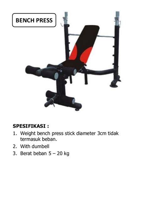 Alat Fitnes alat fitness dan spesifikasi