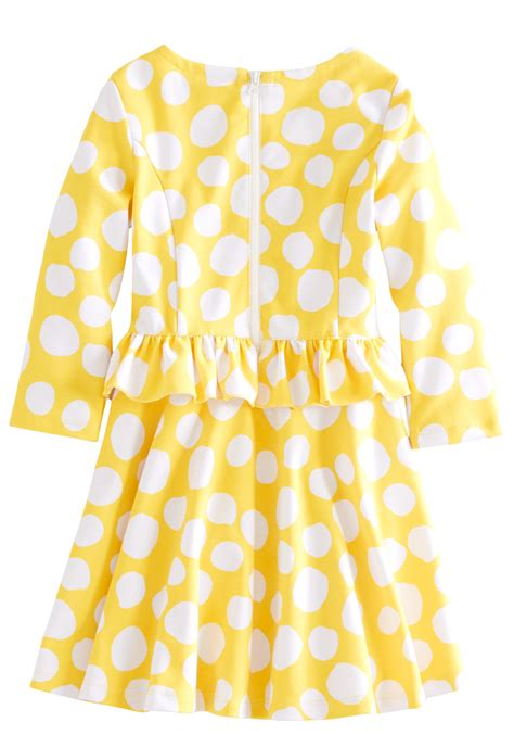 Peplum Polkadot polka dot peplum dress fabkids