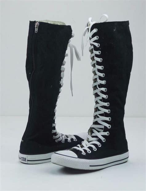 converse chuck knee high sneaker converse chuck hi canvas lace zip up knee high