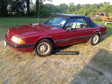 mustang 5 0 mpg 1989 mustang convertible top 4cyl 5 speed 28 mpg survivor