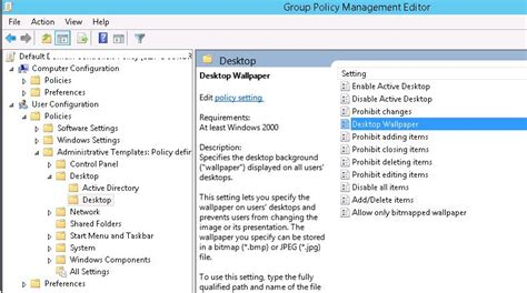 desktop wallpaper via group policy setting desktop wallpapers background using group policy