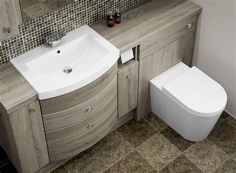 Bathroom Fitted Furniture Bardolino Oak Fitted Bathroom Furniture Mallard Bathrooms Mallard Bathrooms