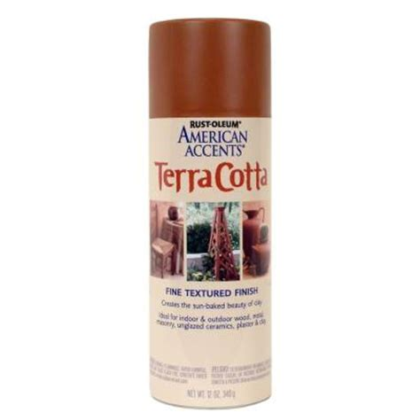 rust oleum american accents 12 oz terra cotta flat clay pot spray paint 6 pack 7905830 the