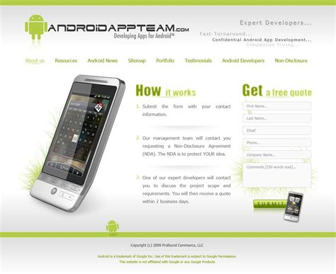 html templates for android apps android app team web template by x3non nx on deviantart