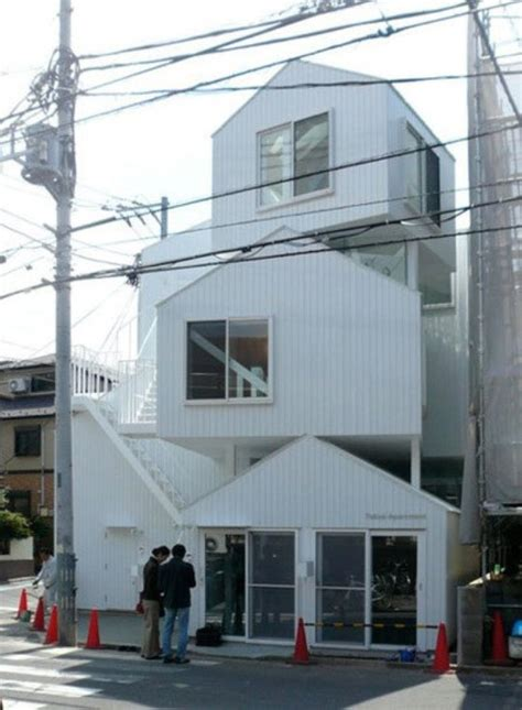 tokyo appartment stacked houses design by sou fujimoto in tokyo