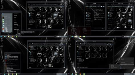 black theme for windows 8 1 with white titles windows 8 1 theme darkglass by customizewin7 on deviantart