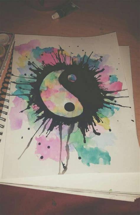 yin yang watercolor tattoo watercolor of a yin yang design watercolor