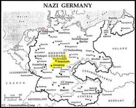 Concentration Camps In Germany Map by Location Of Buchenwald Concentration Camp