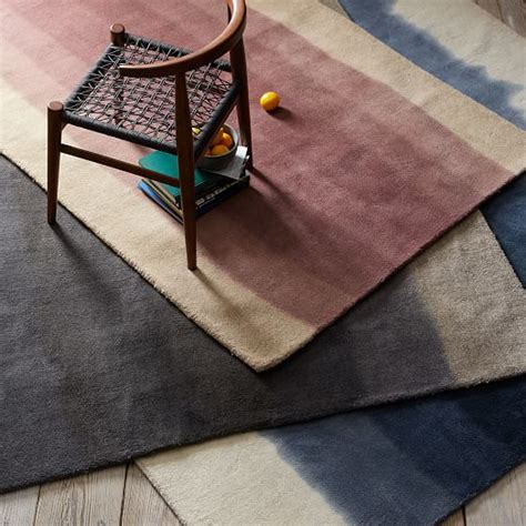 dying rugs ombre dye wool rug midnight west elm