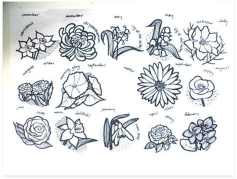 birth month flowers tattoos the world s catalog of ideas