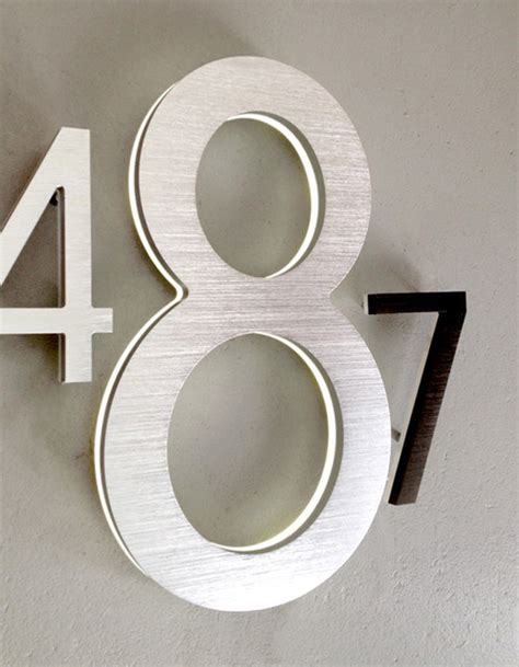 outdoor house numbers modern 8 quot and 10 quot illuminated house numbers outdoor modern house numbers other