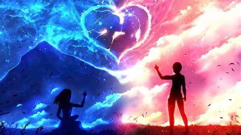 wallpaper anime love download couple anime love wallpaper for desktop mobile