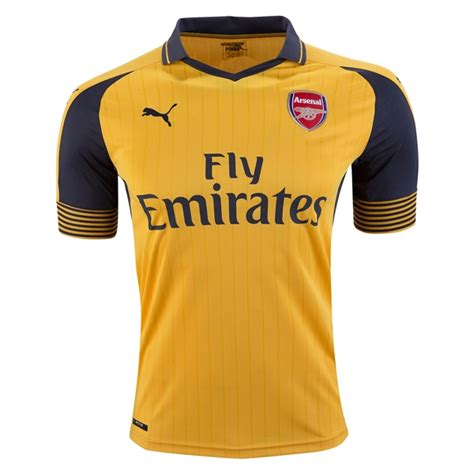 arsenal away jersey 2016 17 premier league jerseys for all 20 teams world