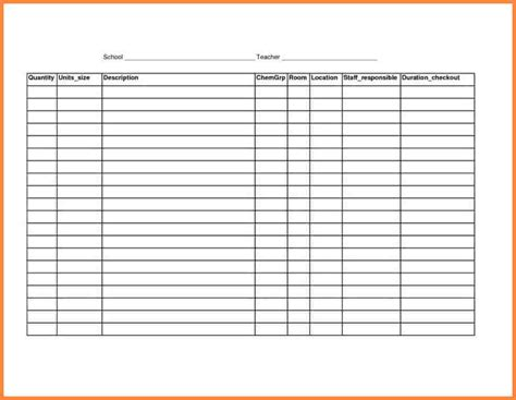 Html Spreadsheet by Free Printable Spreadsheets Blank