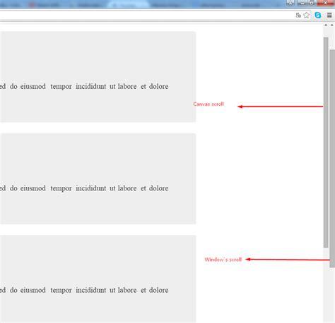 javascript canvas layout javascript fabricjs scrolling canvas using the same