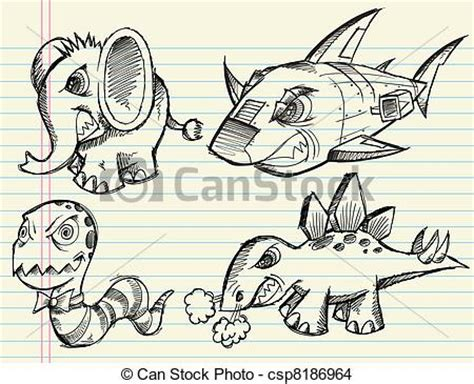 doodle animals vector free eps vector of doodle sketch animal vector set angry